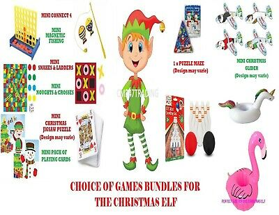 Selection of Christmas Stocking Filler Games Toys Ideas Bundles Presents Gifts