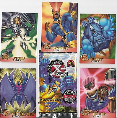Marvel X-Men  Complete Trading Card Set Fleer 1995 Non-Chrome