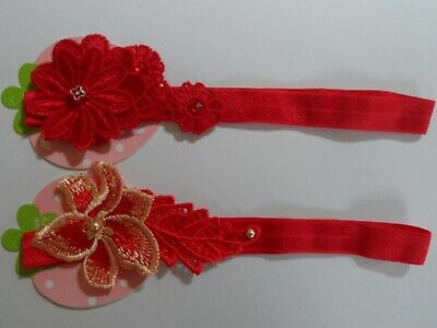 christmas baby/girl red headband hairband garland flower bow  crown baby gifts