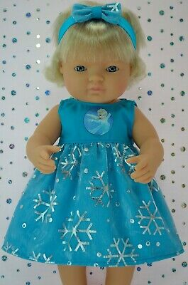 Dolls Clothes For 38cm Miniland Doll SNOWFLAKE DRESS~HEADBAND