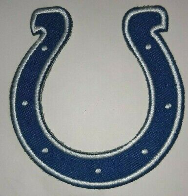 NFL Indianapolis Colts Helmet badge iron on sew on Embroidered Patch applique