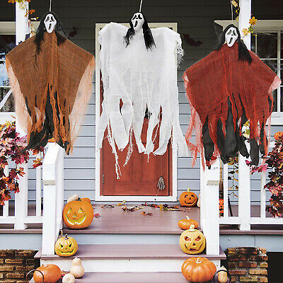 Halloween Decorations 3 Creepy Scary Hanging Ghosts Outdoor Haunted Yard Decor