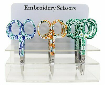 """Assorted Floral Embroidery Scissors, 3.75"""" blade  #6340-30"""