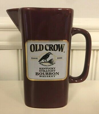 Old Crow Kentucky Straight Bourbon Whiskey Sour Mash Pitcher Maroon 1/500 LIM ED