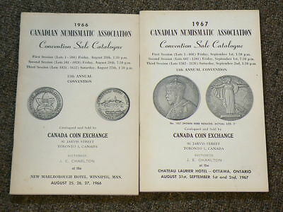 🍁1966 1967 CNA Canadian  Numismatic Convention Sale Catalog by Charlton #2551