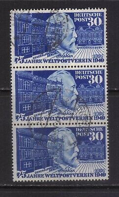 stamps  Germany  SC#669 strip of 3 USED!!! high cv
