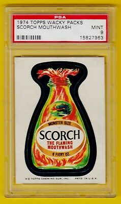 Wacky Packs Packages - Scorch Mouthwash PSA 9 Series 8