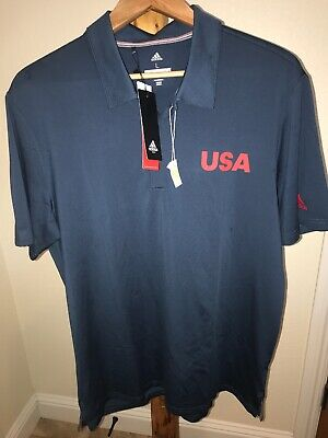 NWT Mens Adidas Ultimate365 Team USA Ryder Cup Golf Polo Shirt Large L SOLD OUT!
