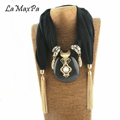 Large Pendant Women Scarf Jewelry Long Necklace Accessories Lady Choker Necklace