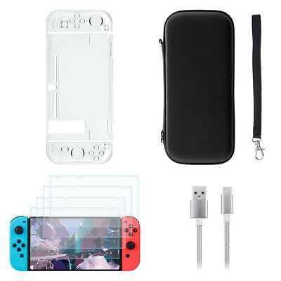 Nintendo Switch Hard Case Black Protective Cover Storage Carry Bag Console Game