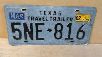 1975-2002 Texas Travel Trailer License Plate Man Cave Chevy Ford Dodge 5Ne 816