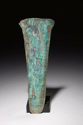 pre columbian aztec Copper Money shaped as Hoe, 6""