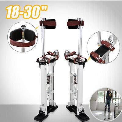 18-30 Inch Drywall Stilts Aluminum Tool Painters Walking Painting Taping Silver
