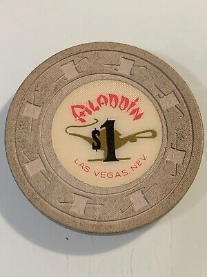 Aladdin $1 Casino Chip Las Vegas Nevada 3.99 Shipping