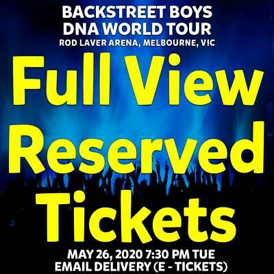 Backstreet Boys | Melbourne | Full View Tickets | Tue 26 May 2020 7:30Pm