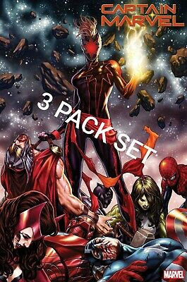 Captain Marvel 12 3-Pack Set Variant 1St Print 11/20/19  App Dark Cap. Marvel 8