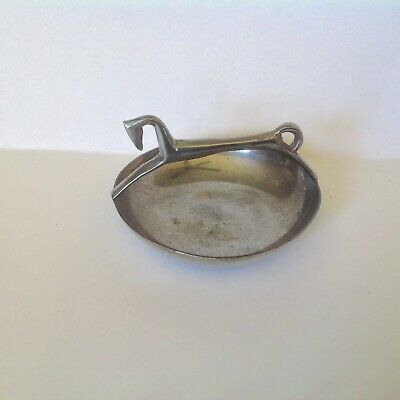 Vintage Rare Queen Art Of Brooklyn Ny Pewter Candy Dish-Art Deco Greyhound-Atc