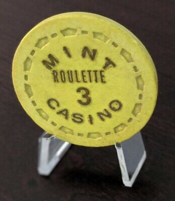 Vintage MINT Casino Las Vegas Roulette Chip SM. Crown Mold Fremont