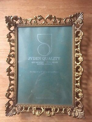 Jyden Quality Antique Brass Picture/Photo Frame Art Nouveau Rococo Embossed