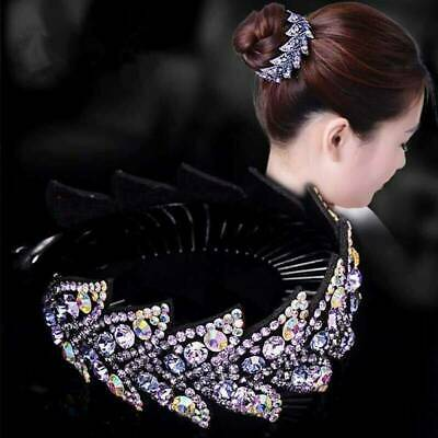 Womens Crystal Hair Clip Slide Hairpin Pins Flower Comb Butterfly Hair Accessory