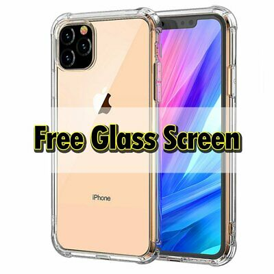 For Apple iPhone 11 XS Max XR X 8 7 Plus Slim Case Cover+Glass Screen Protector
