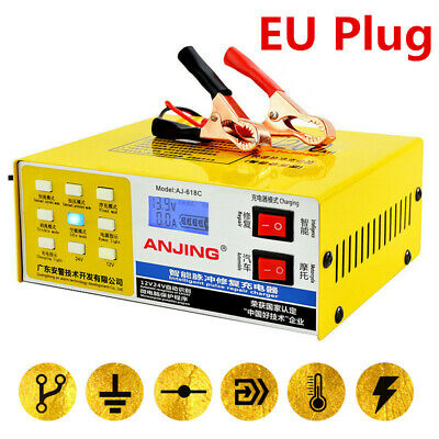 Electric-Car Dry Wet Smart Battery Charger 12/24V Smart Pulse Repair Pure Copper