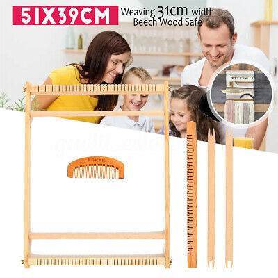 Wooden Weaving Loom Tapestry Knitting Machine Play Toy Kid DIY Craft Kits AU