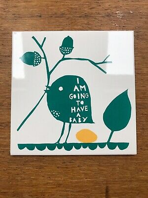 Rob Ryan Rare 'I'm Going To Have A Baby' Ceramic Tile