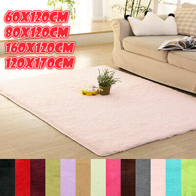 Anti-Skid Shaggy Rugs Fluffy Rug Area Floors Carpet Dining Living Room Mat Home