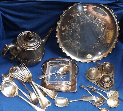 Small Collection Of Vintage & Antique Silver Plated Items