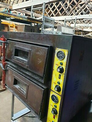Commercial Pizza Oven Twin Deck Baking Oven Fire Stone Catering