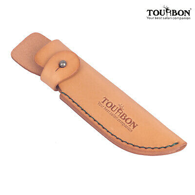 Genuine Leather Knife Sheath Cover Hunting Knives Holder Holster Outdoor-TOURBON