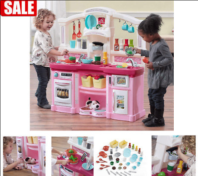 Step2 Fun With Friends Kids Play Toy Kitchen Set Large Pink Giit Toys