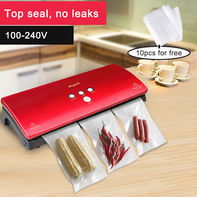 LN_ QA_ Automatical Vacuum Sealer Machine Food Saver Home Packaging Tool + 10