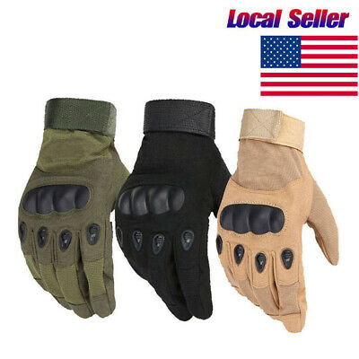 Hunting Shooting Full Finger Gloves Army Military Hard Knuckle Gloves Unisex