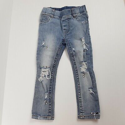 Beau Hudson Jeans Size 2 Toddler Pull On Distressed Skinny