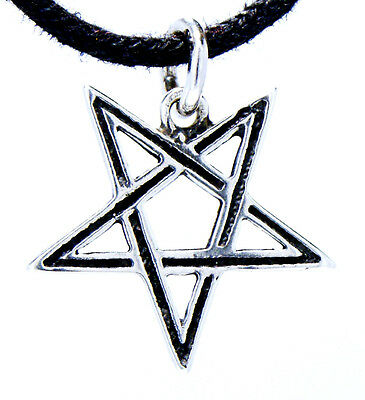 No. 51: Pentagram 925 Silver Pendant Silver Chain Magic Satan Devil Pentagram