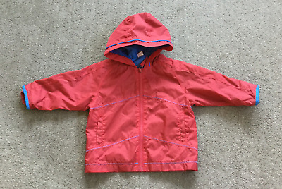 MINI MODE Raincoat with Hood Lined Red 12-18 Months 74- 80cms Girl Boy Child