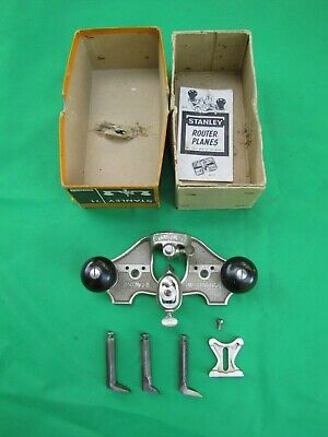 Vintage Stanley #71 Router Plane NOS in Box With Accessories Including Fence
