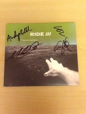 Signed-Ride-Cd Album-This Is Not A Safe Place-Autographed By Four-Mint/Unplayed
