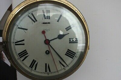 Vintage  Smiths Astral 8 Day Marine Ships Bulkhead Clock  .