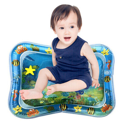 Ln_ Inflatable Baby Water Mat Infant Tummy Time Playmat Toddler Fun Activity F