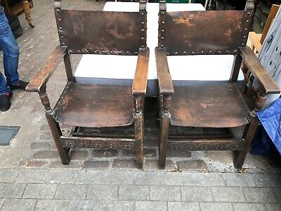 Pair Of Jacobean Style Armchairs