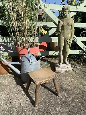 Old Antique Vintage Rustic Wooden Stool Miniature Small