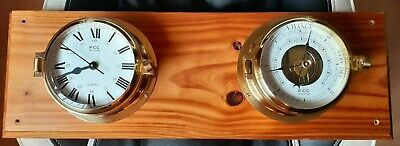 FCC Precision ships clock and barometer in cast brass