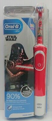 Braun | Oral B | Stages Power | Star Wars Electric Toothbrush | Red & White