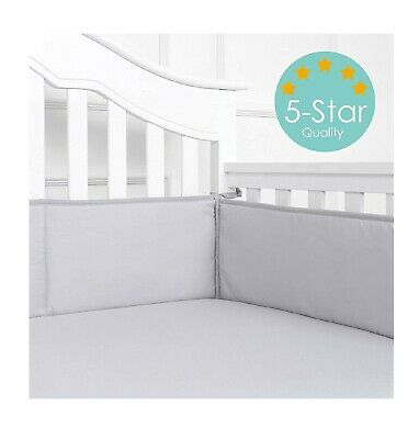 Baby Breathable Crib Bumper Pads For Standard Cribs Microfiber Polyester,4 Piece