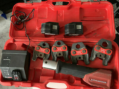 Rothenberger Romax Compact Press Tool  + SV 15, 18, 22, 28 jaws + 2 Batteries