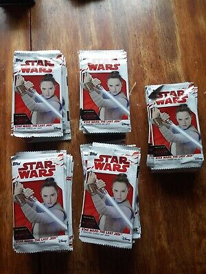 STAR WARS: THE LAST JEDI Topps Trading Cards 97 packs