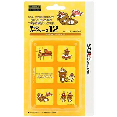 NINTENDO Rilakkuma Card Case 12 for 3DS  Rirakkuma Wonderland F/S JAPAN